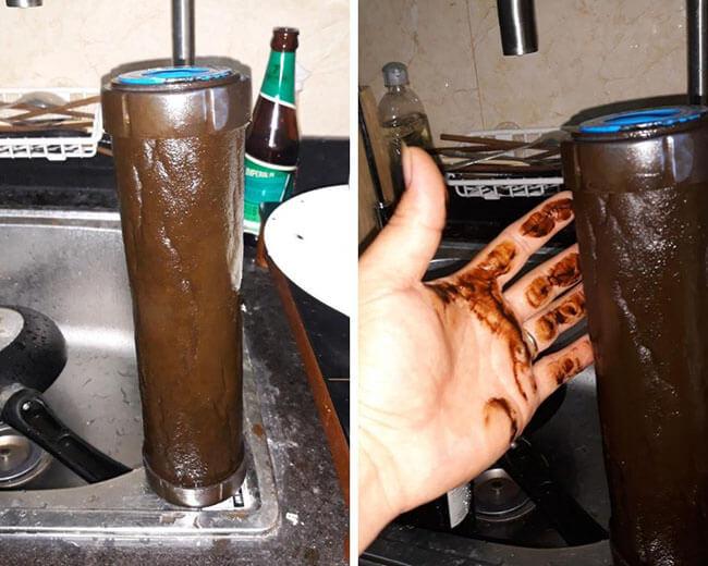 Ngỡ ngàng sau 1 năm không thay lõi máy lọc nước